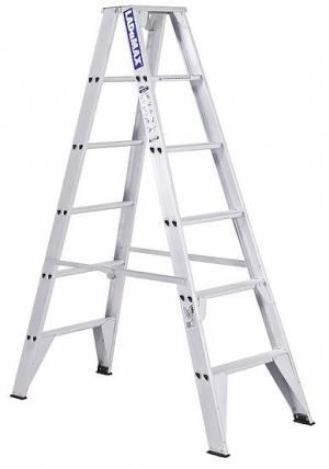 Double Sided Step Ladders - Aluminium