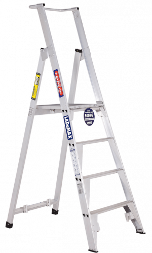 Platform Step Ladders - Aluminium